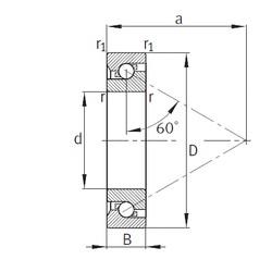 45 mm x 100 mm x 20 mm  FAG BSB045100-T Face-to-face duplex arrangement Bearings