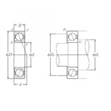 15 mm x 35 mm x 11 mm  NTN 5S-BNT202 Duplex angular contact ball bearings