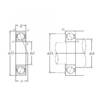 20 mm x 47 mm x 14 mm  NTN BNT204 Double Row Cylindrical Roller Bearings