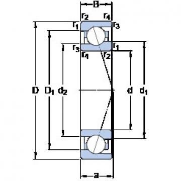 40 mm x 62 mm x 12 mm  SKF 71908 CE/HCP4A duplex angular contact ball bearings