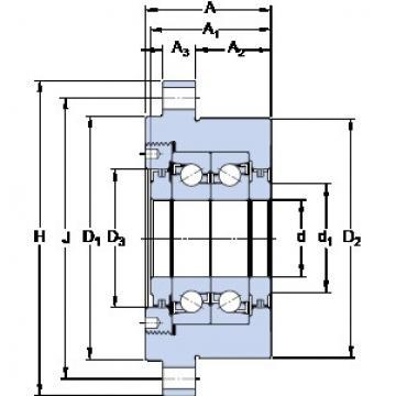 SKF FBSA 207/DB Double Row Cylindrical Roller Bearings