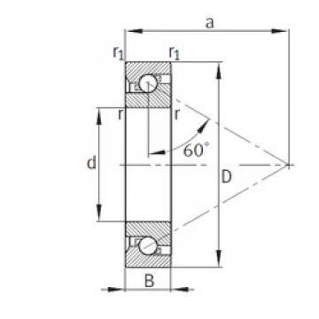 25 mm x 62 mm x 15 mm  FAG BSB025062-T duplex angular contact ball bearings