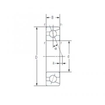 50 mm x 72 mm x 12 mm  NACHI 7910AC duplex angular contact ball bearings
