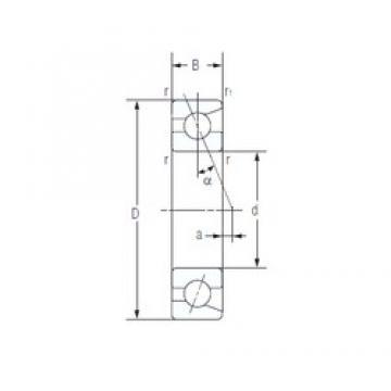 90 mm x 160 mm x 30 mm  NACHI 7218AC High Accuracy Precision Bearings