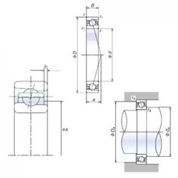 35 mm x 55 mm x 10 mm  NSK 35BNR19X duplex angular contact ball bearings