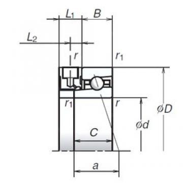 105 mm x 145 mm x 20 mm  NSK 105BNR19XE High Accuracy Precision Bearings