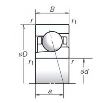 12 mm x 24 mm x 6 mm  NSK 12BGR19H Face-to-face duplex arrangement Bearings