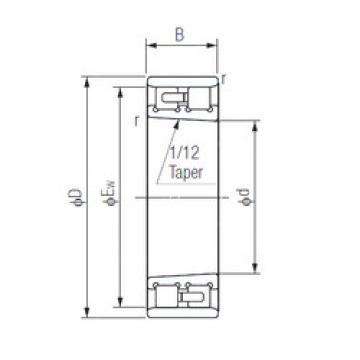 110 mm x 170 mm x 45 mm  NACHI NN3022K Face-to-face duplex arrangement Bearings