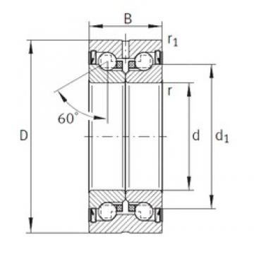 50 mm x 110 mm x 54 mm  INA ZKLN50110-2RS Double Row Cylindrical Roller Bearings