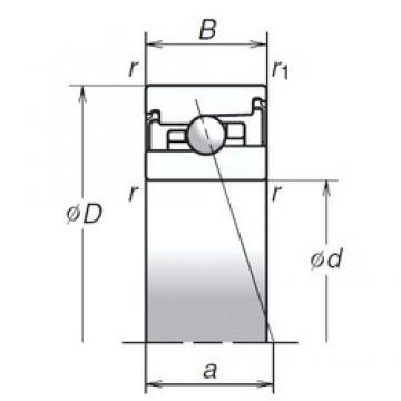 55 mm x 90 mm x 22 mm  NSK 55BER20SV1V duplex angular contact ball bearings
