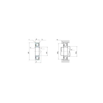 NSK 7207C Duplex angular contact ball bearings