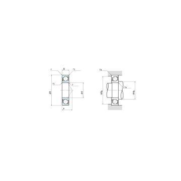 NSK 7920A5 duplex angular contact ball bearings
