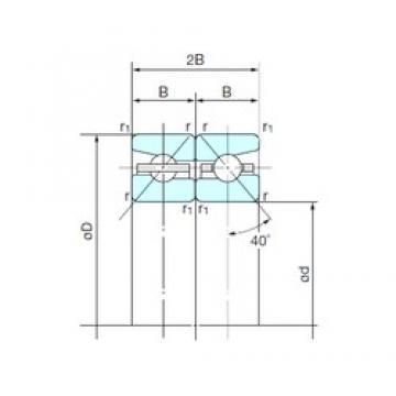 50 mm x 80 mm x 14,25 mm  NACHI 50TBH10DB Face-to-face duplex arrangement Bearings