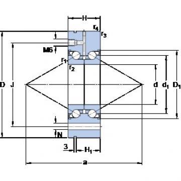 SKF BEAM 025075-2RZ/PE High Accuracy Precision Bearings