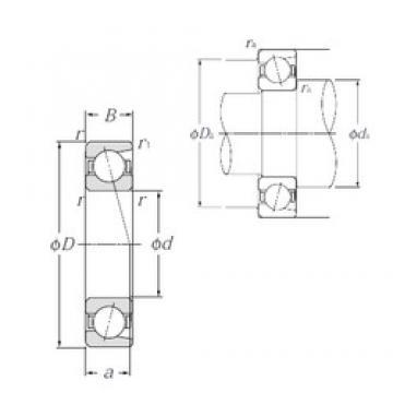30 mm x 42 mm x 7 mm  NTN 7806C duplex angular contact ball bearings