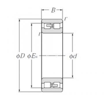 40 mm x 68 mm x 21 mm  NTN NN3008 Double Row Cylindrical Roller Bearings