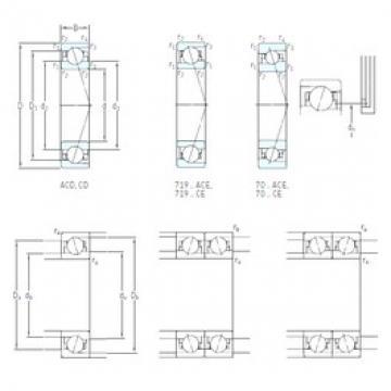 70 mm x 110 mm x 20 mm  SKF 7014 ACB/HCP4A Duplex angular contact ball bearings