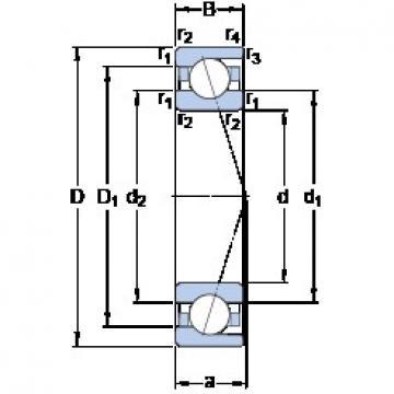 60 mm x 110 mm x 22 mm  SKF 7212 CD/HCP4A duplex angular contact ball bearings