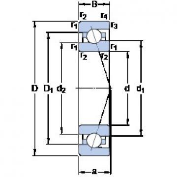 9 mm x 24 mm x 7 mm  SKF 709 ACE/P4A duplex angular contact ball bearings
