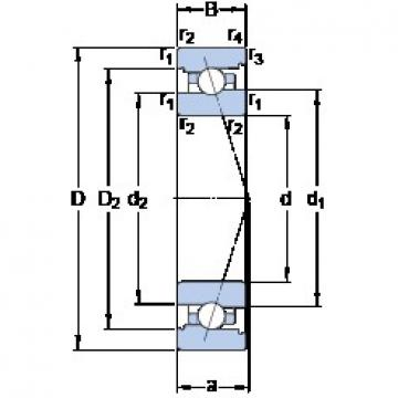 70 mm x 100 mm x 16 mm  SKF 71914 ACB/HCP4A Duplex angular contact ball bearings