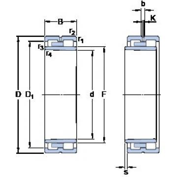 220 mm x 300 mm x 80 mm  SKF NNU 4944 BK/SPW33 High Accuracy Precision Bearings