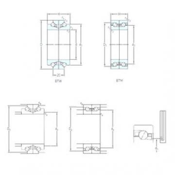 95 mm x 145 mm x 30 mm  SKF BTW 95 CTN9/SP Face-to-face duplex arrangement Bearings