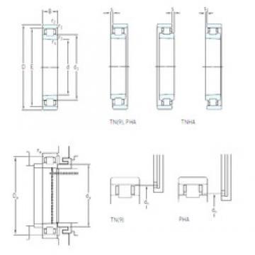 95 mm x 145 mm x 24 mm  SKF N 1019 KTN9/HC5SP Face-to-face duplex arrangement Bearings