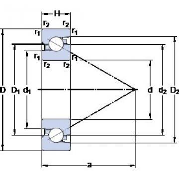 SKF BSA 307 C Duplex angular contact ball bearings