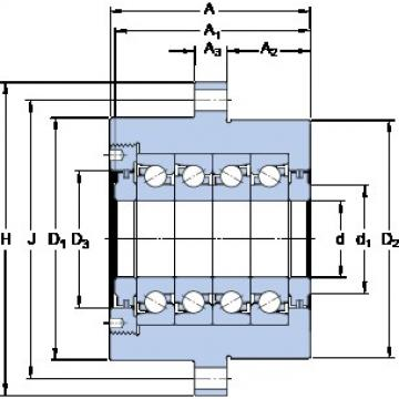 SKF FBSA 204/QBC High Accuracy Precision Bearings