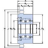 SKF FBSA 204/DB Matched Angular Contact Ball Bearings