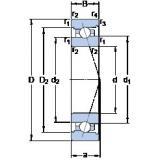 60 mm x 85 mm x 13 mm  SKF 71912 ACB/HCP4A Axial angular contact ball bearings